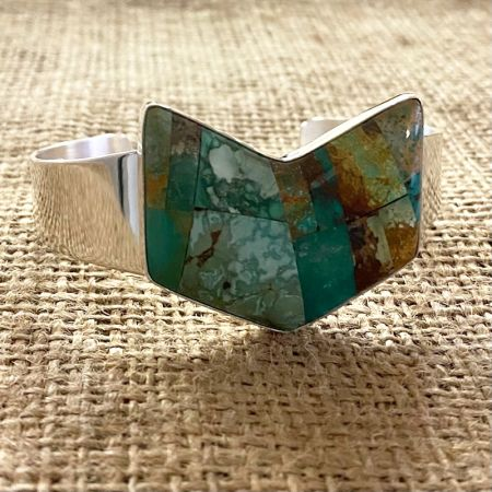 Patchwork Turquoise Inlay Cuff
