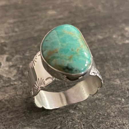 Turquoise Hill Freeform Ring - Size 9