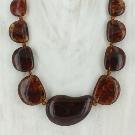 Brown Amber Necklace