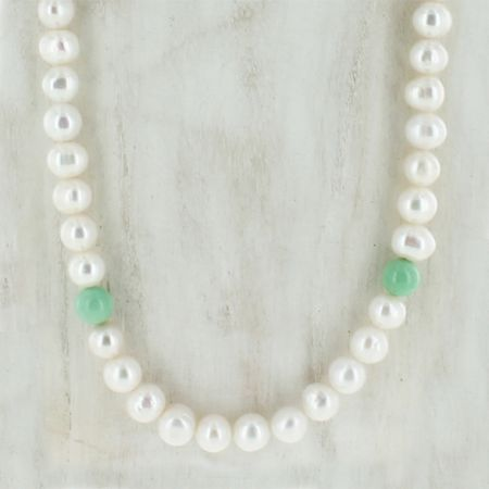 Pearl & Variscite Necklace