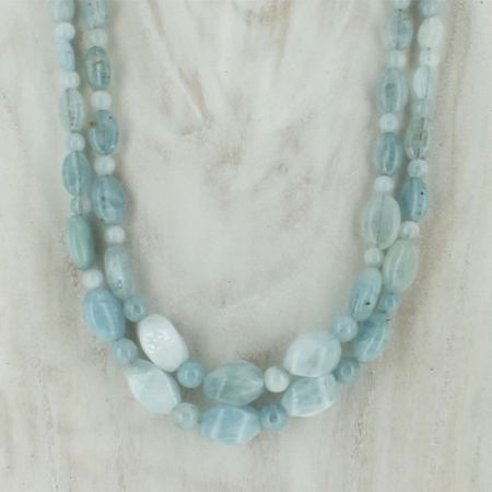 2 Strand Aquamarine Necklace