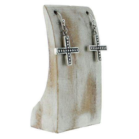 Dotted Cross Earrings