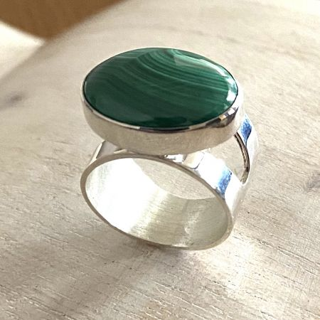 Malachite Ring - Size 9