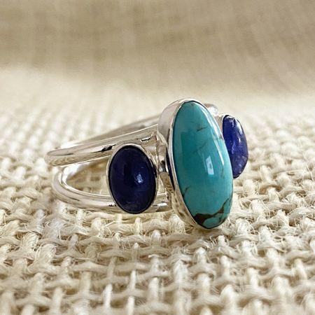 Turquoise & Tanzanite Ring - size 7