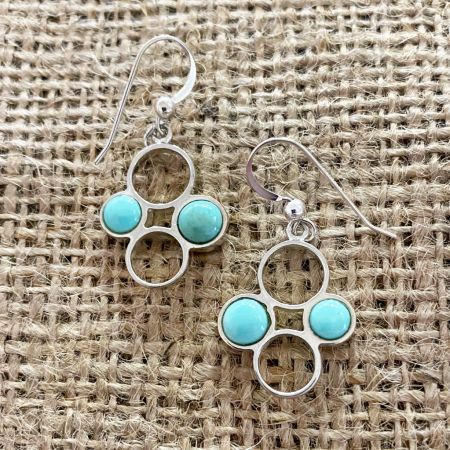 Campitos Turquoise Circle Earrings