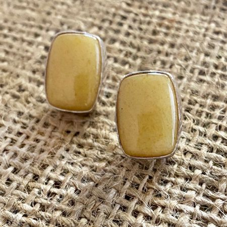 Butterscotch Amber Post Earrings