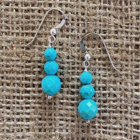 Cloudy Mountain Turquoise Earrings