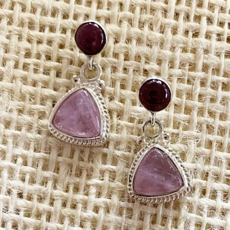 Kunzite & Tourmaline Earrings