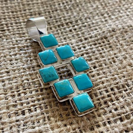 Andean Blue Turquoise Pendant