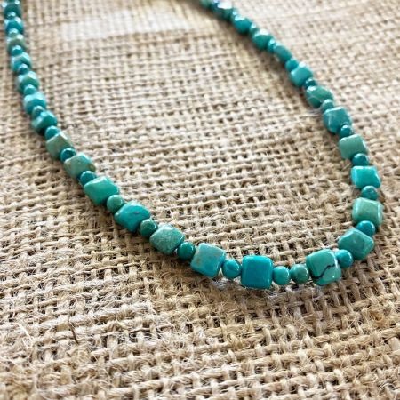 Andean Blue Turquoise Necklace