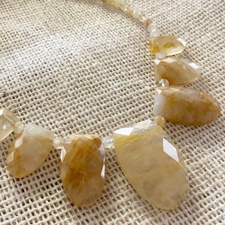 Madagascar Sunshine Quartz Necklace