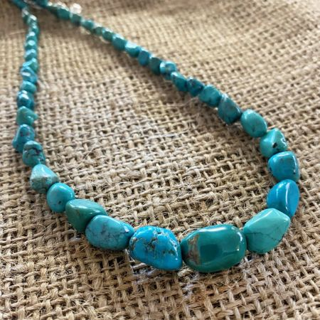 Azure Peaks Turquoise Nugget Necklace