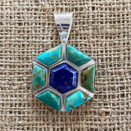 Tyrone Turquoise and Lapis Pendant