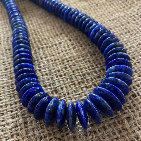 Lapis Disc Necklace
