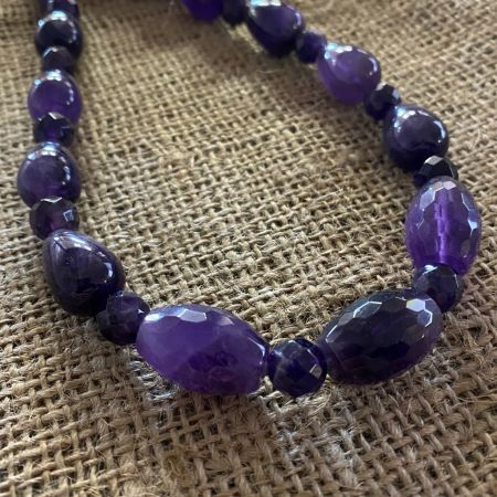 Amethyst Beaded Medley Necklace