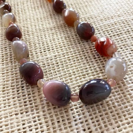 African Multi Chalcedony Necklace