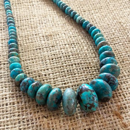Blue Green Azure Peaks Turquoise Necklace