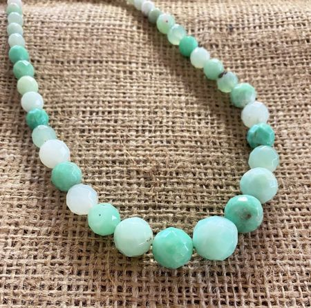 Ethiopian Chrysoprase Faceted Necklace