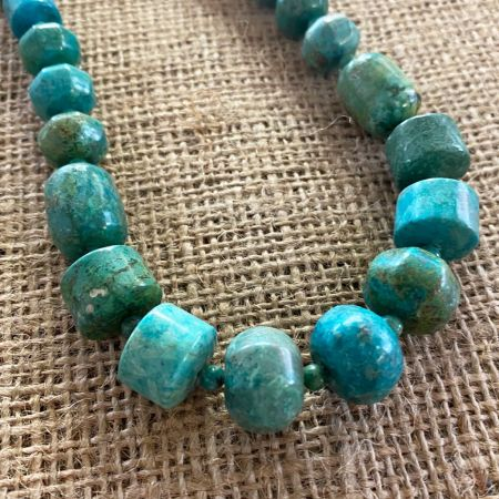 Green Blue Azure Peaks Turquoise Necklace