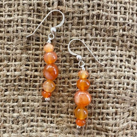 Red Chalcedony Earrings
