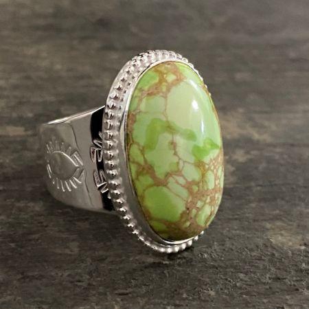 Green Emperial Jasper Ring