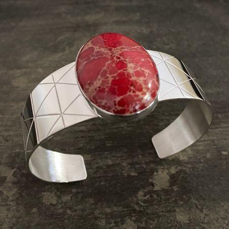 Red Emperial Jasper Cuff
