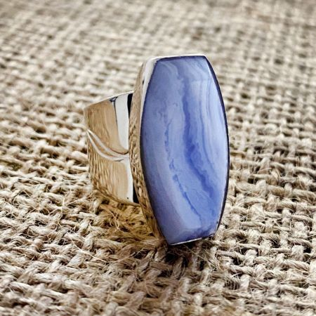 Blue Lace Agate Ring - Size 6