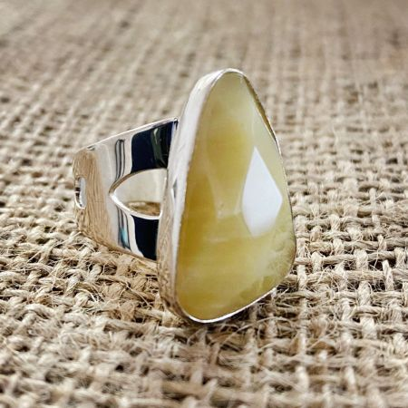 Honey Gobi Opal Ring - Size 8