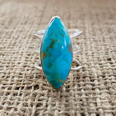 Santa Rita Turquoise Ring - Size 7