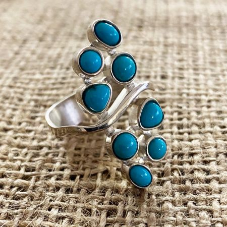 New Red Skin Turquoise Ring - Size 10