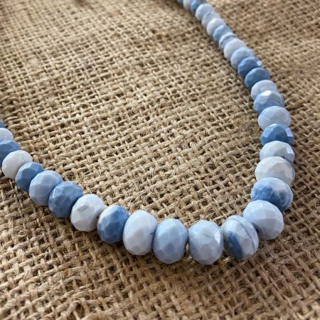 Dream Blue Opal Faceted Necklace
