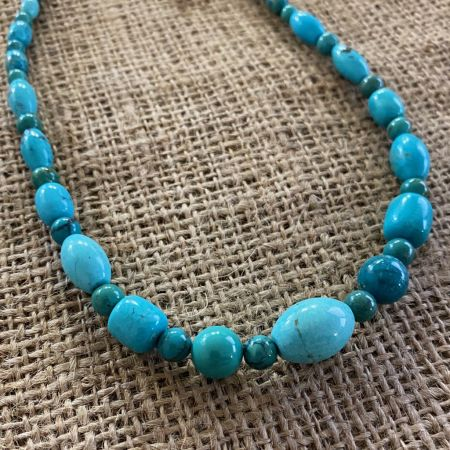 Azure Peaks Beaded Medley Necklace