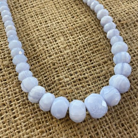 Faceted Blue Lace Agate Necklace
