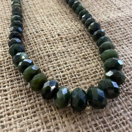 Dark Green Nephrite Jade Necklace