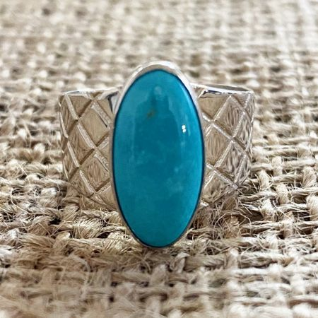 Andean Turquoise Ring - Size 7