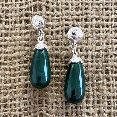 Malachite Tear Drop Earrings