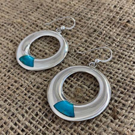Santa Rita Turquoise Hoop Earrings