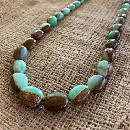 Green Opal Ovals Necklace