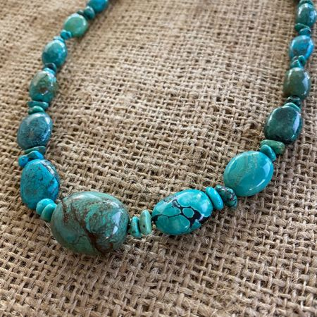 Azure Peaks Turquoise Beaded Necklace