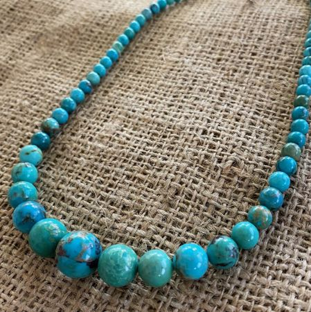 New Red Skin Turquoise Beaded Necklace