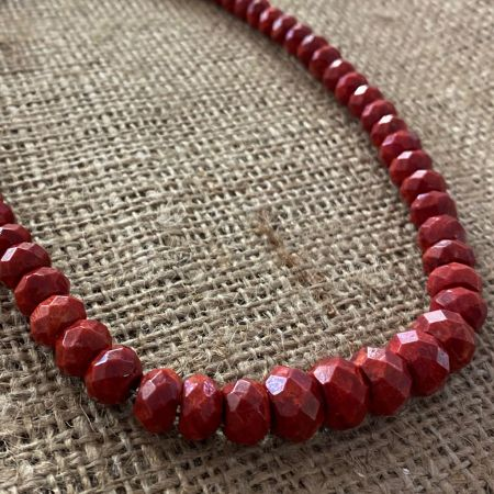 Faceted Coral Necklace