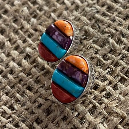 Southwestern Inlay Stud Earrings