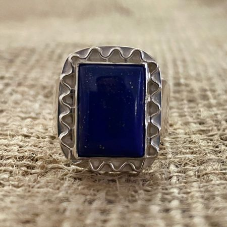 Lapis Door Ring - Size 9