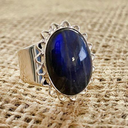 Labradorite Sun Ring - Size 9