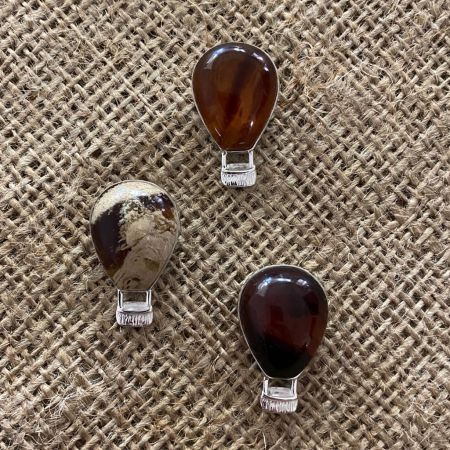 Indonesian Amber Hot Air Balloon Pendant