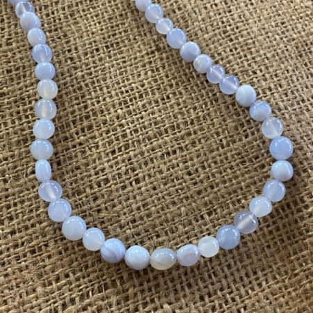 Blue Agate 36 Inch Necklace