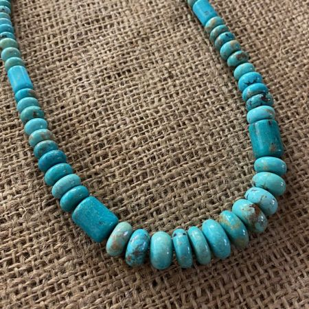 Angel Peak Graduated Turquoise Necklace