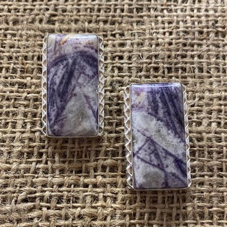 Mongolian Fluorite Post Earrings