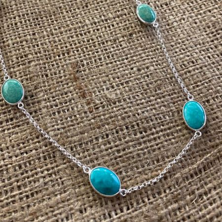Chilean Turquoise Chain Necklace