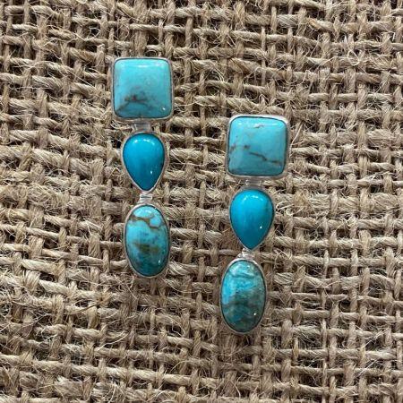 Seven Peaks Turquoise Trio Earrings